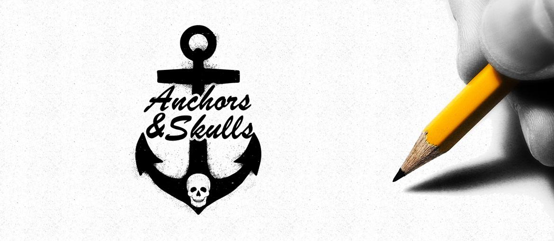 """Δημιουργία Λογοτύπου """"Anchors & Skulls"""""""