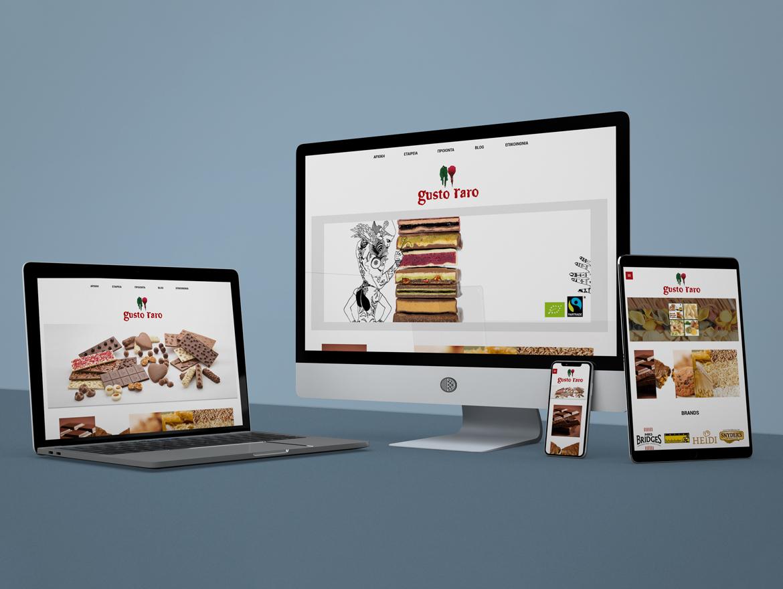 "Website Design ""Gusto Raro"""