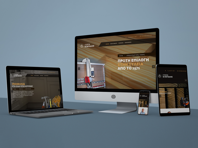 "Website Design ""Pagalos Timber"""