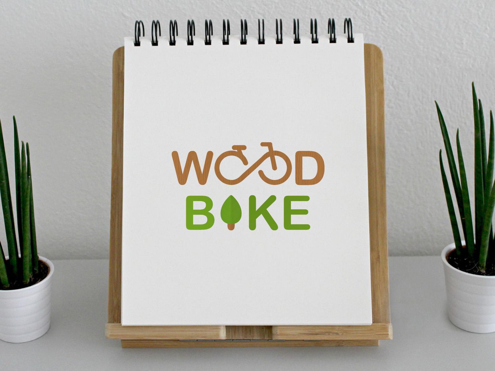 """Δημιουργία Λογοτύπου """"WoodBike"""""""